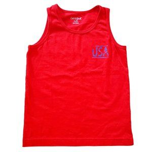 Cat & Jack Boys USA Tank Top Size 4/5 X-Small Red